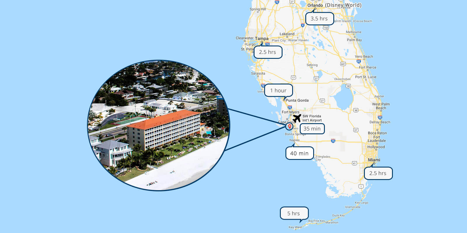 google map of Fort Meyers Beach Florida